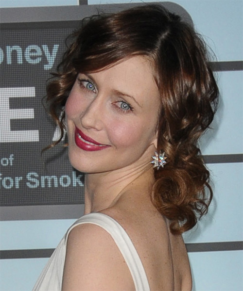Vera Farmiga  Long Curly    Updo    - Side on View