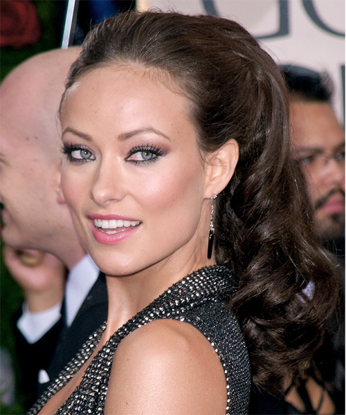 Olivia Wilde  Long Curly Formal   Updo Hairstyle   - Side on View