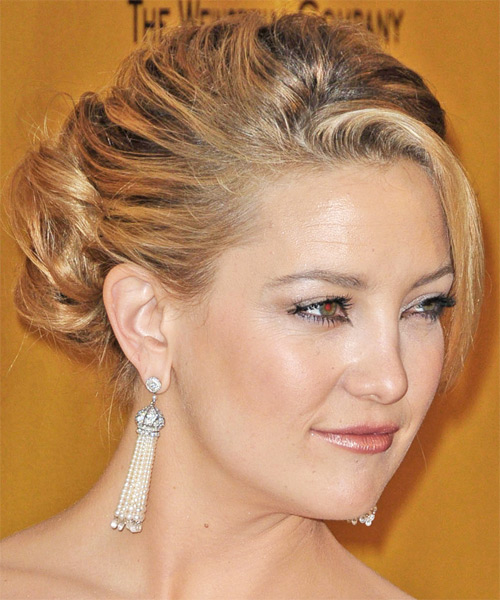 Kate Hudson Updo Long Curly Formal  Updo Hairstyle   - Side on View
