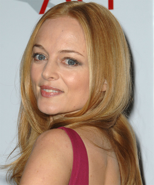 Heather Graham Long Straight Formal   Hairstyle   (Honey) - Side on View