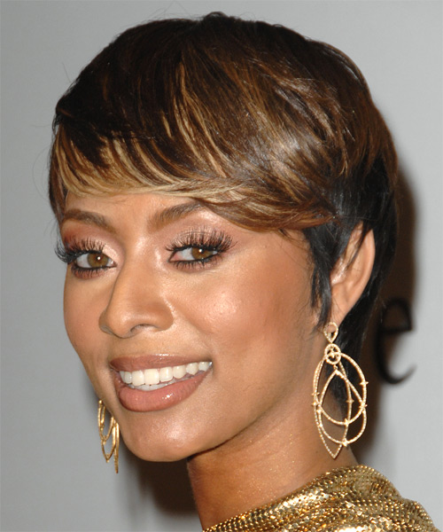 Keri Hilson Short Straight Formal   Hairstyle   - Side on View