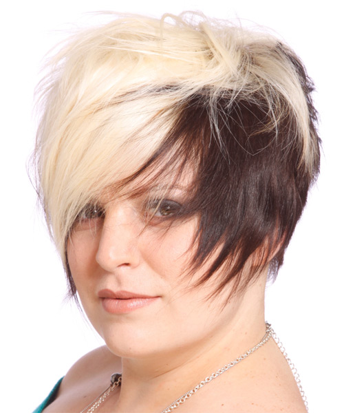 Short Straight Alternative   Hairstyle   - Light Blonde (Chocolate) - Side on View