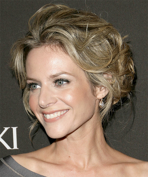 Jessalyn Gilsig Updo Long Curly Formal  Updo Hairstyle   - Side on View