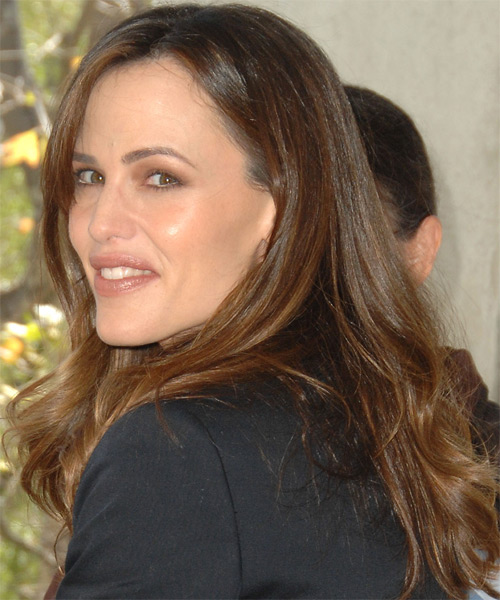Jennifer Garner Long Straight Casual    Hairstyle   - Side on View