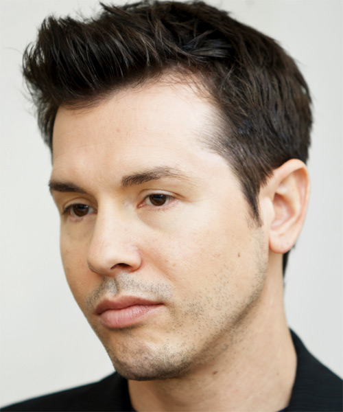 Jon Seda Short Straight Formal   Hairstyle   - Side on View
