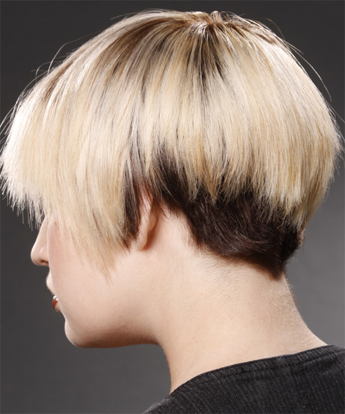 Short Straight Casual   Hairstyle   - Light Blonde (Champagne) - Side on View