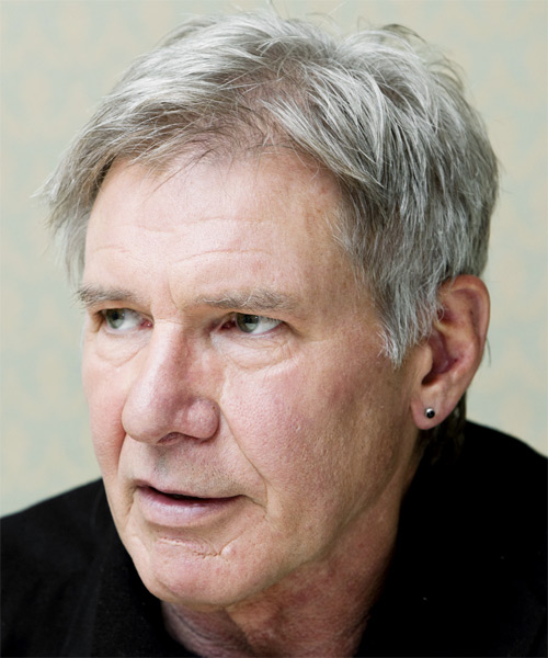 Harrison Ford Short Straight Casual   Hairstyle   - Side on View
