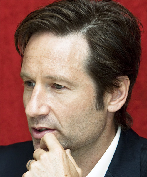 David Duchovny Short Straight Formal   Hairstyle   - Side on View