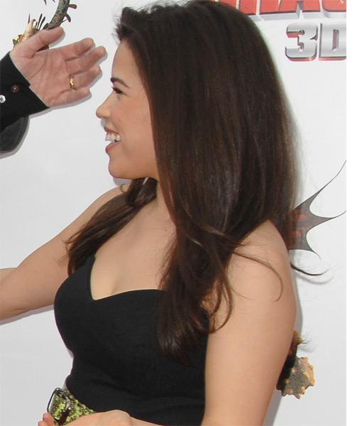 America Ferrera Long Straight Casual   Hairstyle   - Side on View