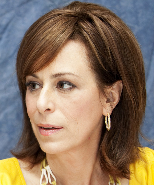 Jane Kaczmarek Medium Straight Casual   Hairstyle   - Side on View