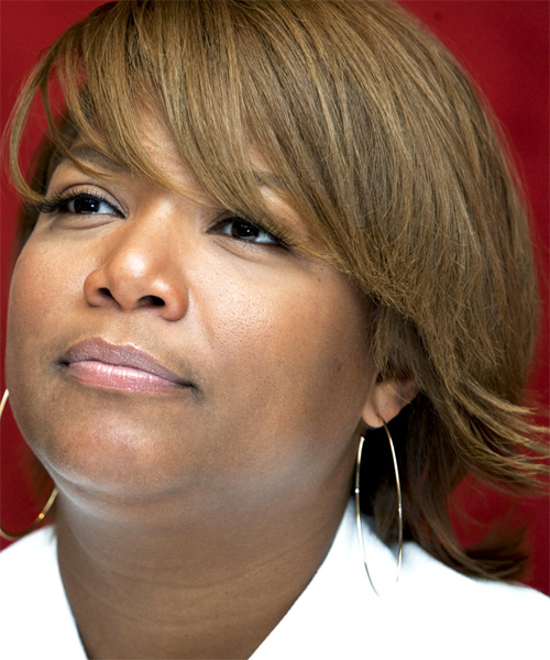 Queen Latifah Short Straight Formal   Hairstyle   - Side on View