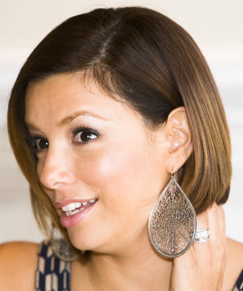 Eva Longoria Parker Medium Straight Formal Bob  Hairstyle   - Side on View