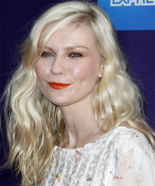 Kirsten Dunst Long Wavy Casual   Hairstyle   - Side on View