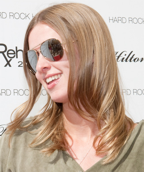 Nicky Hilton Long Straight Formal   Hairstyle   - Side on View