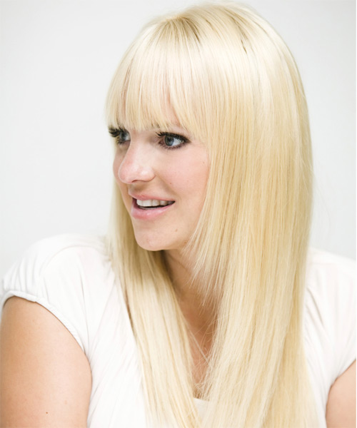 Anna Faris Long Straight Formal   Hairstyle   - Side on View