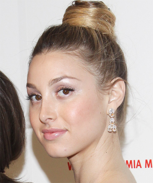 Whitney Port  Long Curly Formal   Updo Hairstyle   - Dark Blonde Hair Color - Side on View