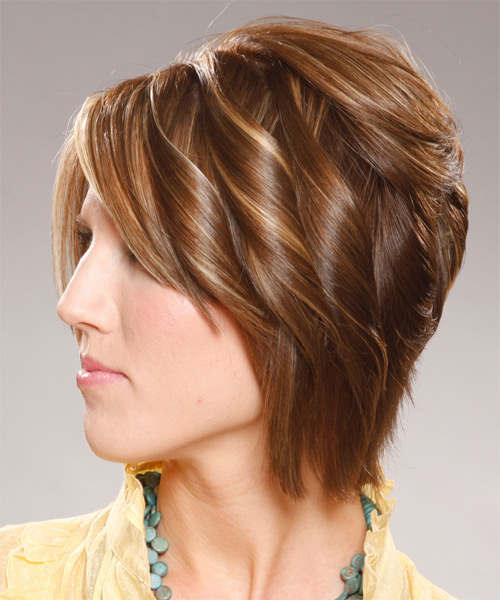 Medium Wavy Formal    Hairstyle   - Side on View