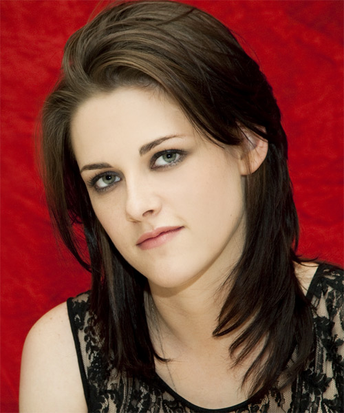 Kristen Stewart Long Straight     Hairstyle   - Side on View