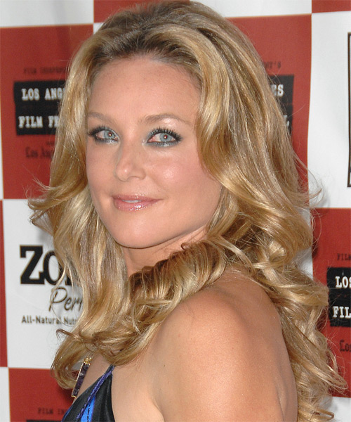 Elisabeth Rohm Long Wavy Formal   Hairstyle   - Side on View