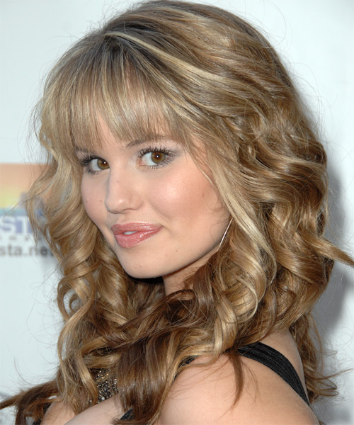 Debby Ryan Long Wavy Formal   Hairstyle   - Side on View