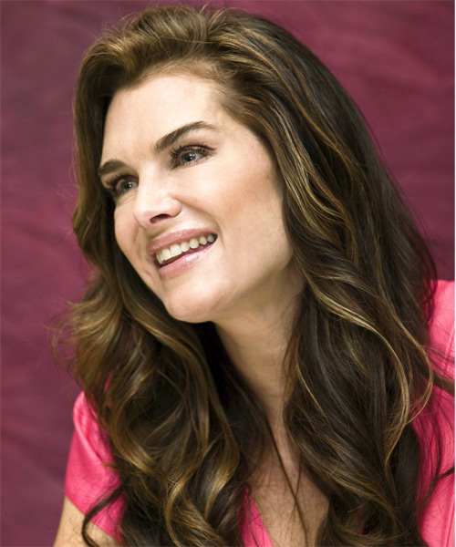 Brooke Shields Long Wavy Formal   Hairstyle   - Side on View