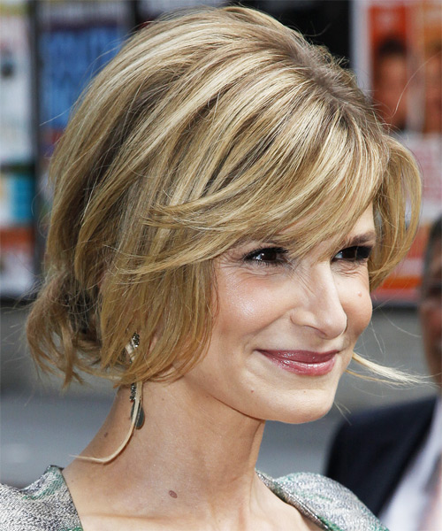 Kyra Sedgwick  Long Straight    Updo    - Side on View