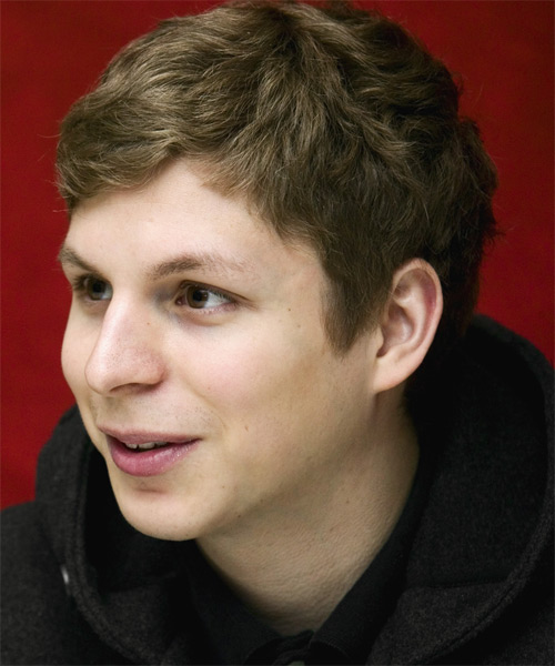 Michael Cera Short Wavy Casual   Hairstyle   - Side on View