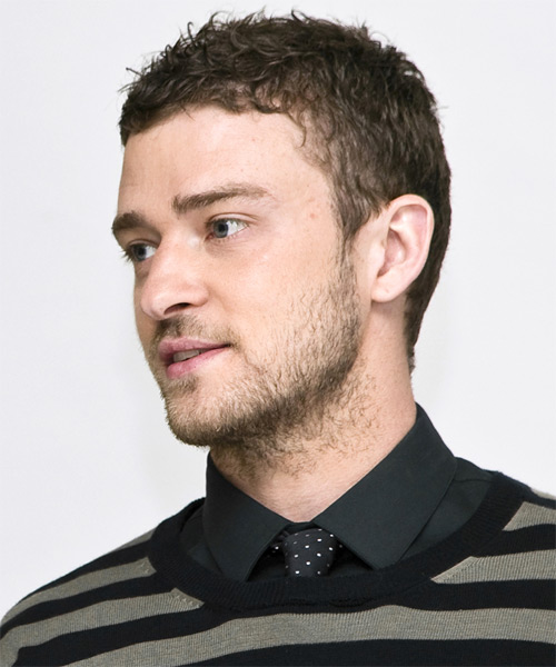 Justin Timberlake Short Wavy Casual    Hairstyle   - Side on View