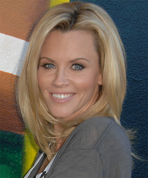 Jenny McCarthy Long Straight Casual    Hairstyle   - Light Honey Blonde Hair Color - Side on View