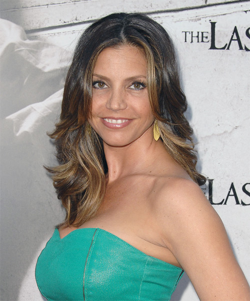 Charisma Carpenter Long Wavy Formal   Hairstyle   - Side on View