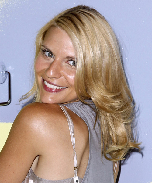 Claire Danes Medium Straight     Hairstyle   - Side on View
