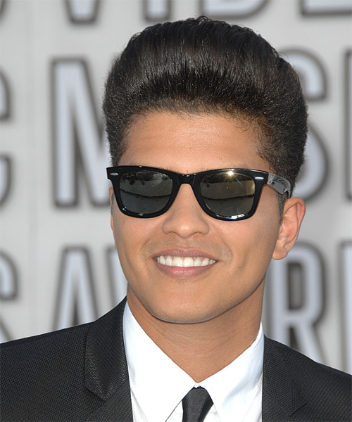 Bruno Mars Short Straight Formal    Hairstyle   - Side on View