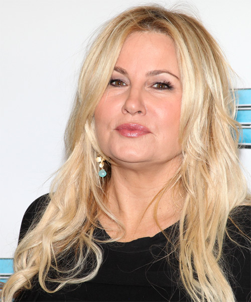 Jennifer Coolidge Long Straight Casual   Hairstyle   - Side on View