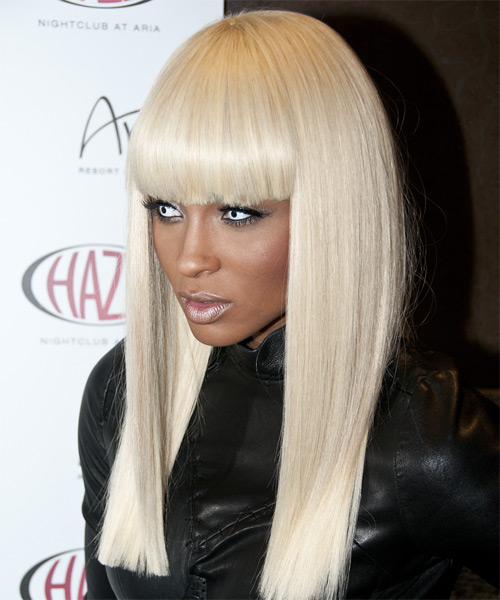 Ciara Long Straight Formal   Hairstyle   - Side on View
