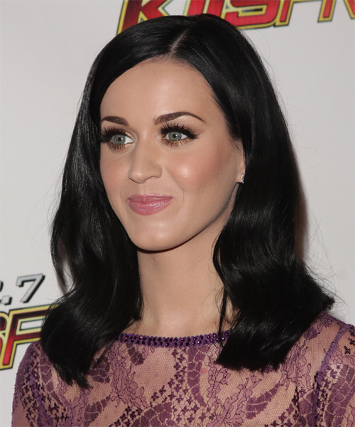 Katy Perry Medium Straight Formal   Hairstyle   - Side on View