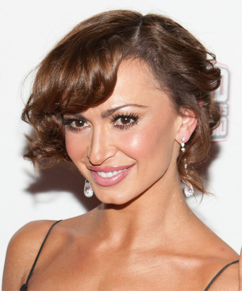 Karina Smirnoff  Long Curly Formal   Updo Hairstyle   -  Brunette Hair Color - Side on View