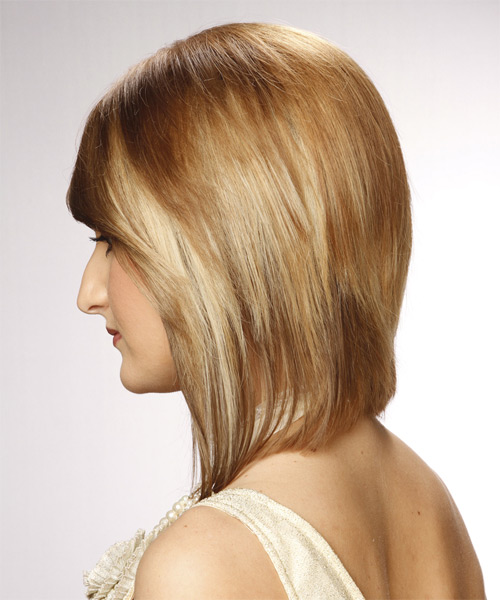 Medium Straight Formal   Hairstyle   - Side on View