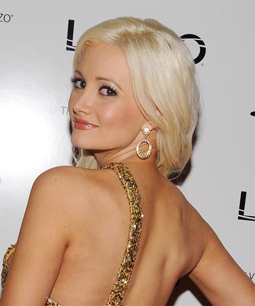 Holly Madison Long Wavy Formal   Hairstyle   - Side on View