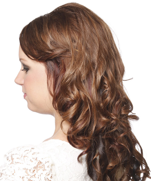 Long Curly Formal   Hairstyle   - Side on View