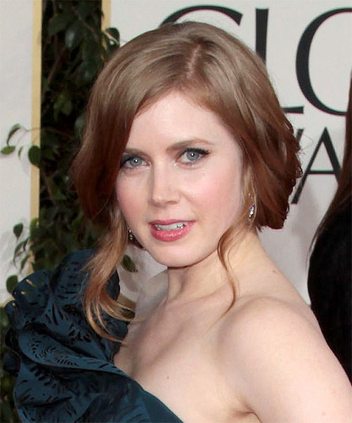 Amy Adams  Long Curly   Dark Blonde  Updo    - Side on View