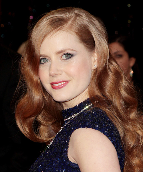 Amy Adams Long Wavy Formal   Hairstyle   - Side on View
