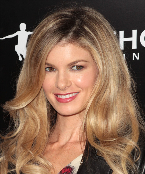 Marisa Miller Long Straight Casual   Hairstyle   - Dark Blonde - Side on View