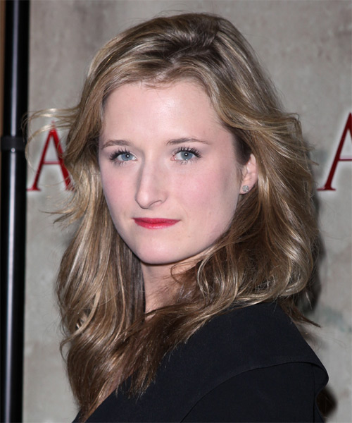 Grace Gummer  Long Wavy Casual   Hairstyle   - Light Brunette (Ash) - Side on View