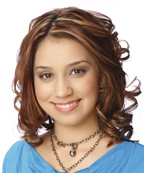 Medium Wavy Formal   Hairstyle   - Medium Brunette (Mahogany) - Side on View