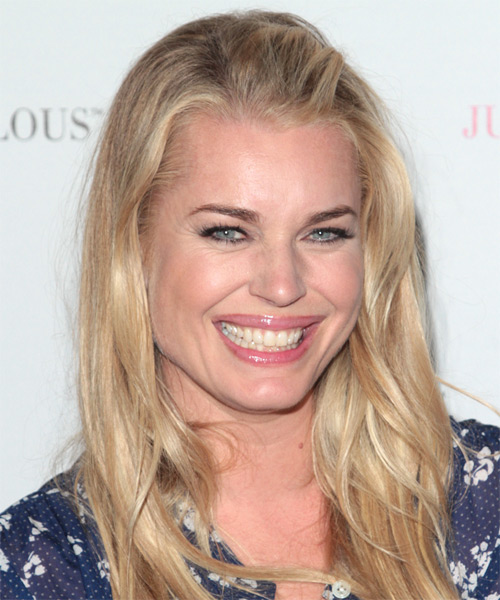 Rebecca Romijn Long Straight Casual   Hairstyle   - Dark Blonde - Side on View
