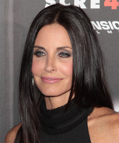 Courtney Cox Long Straight Casual   Hairstyle   - Side on View