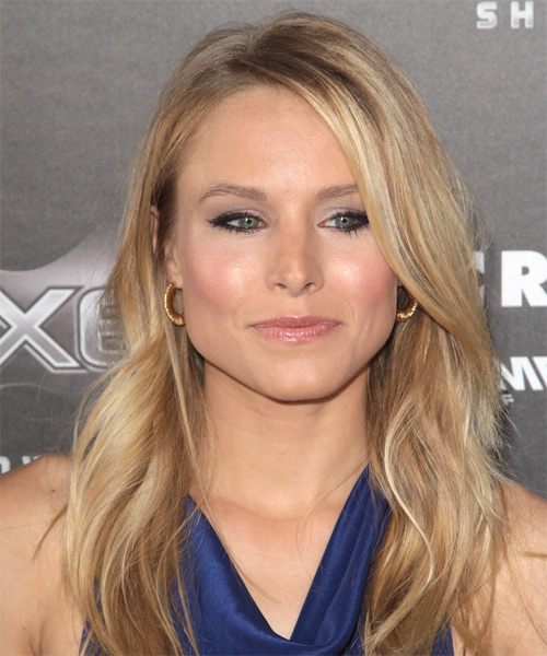 Kristen Bell Long Wavy Casual   Hairstyle   - Medium Blonde - Side on View