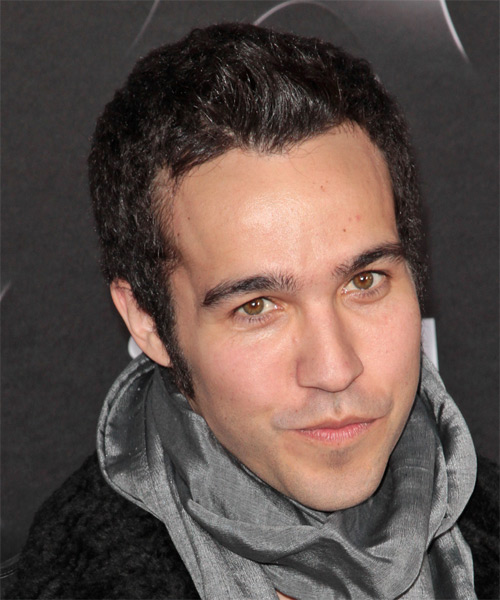 Pete Wentz Short Straight Casual    Hairstyle   - Dark Brunette Hair Color - Side on View