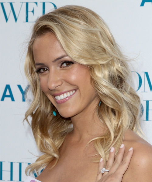 Kristin Cavallari Long Wavy Casual   Hairstyle   - Light Blonde - Side on View