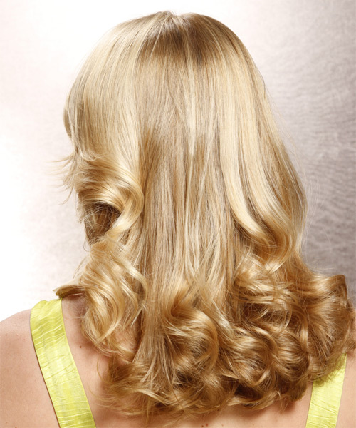 Long Wavy Formal   Hairstyle   - Light Blonde (Champagne) - Side on View